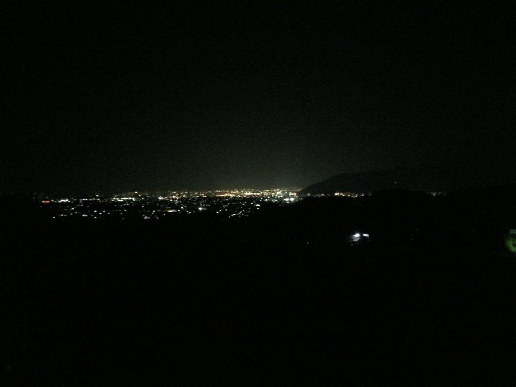 勝沼ぶどう郷駅からみた夜景