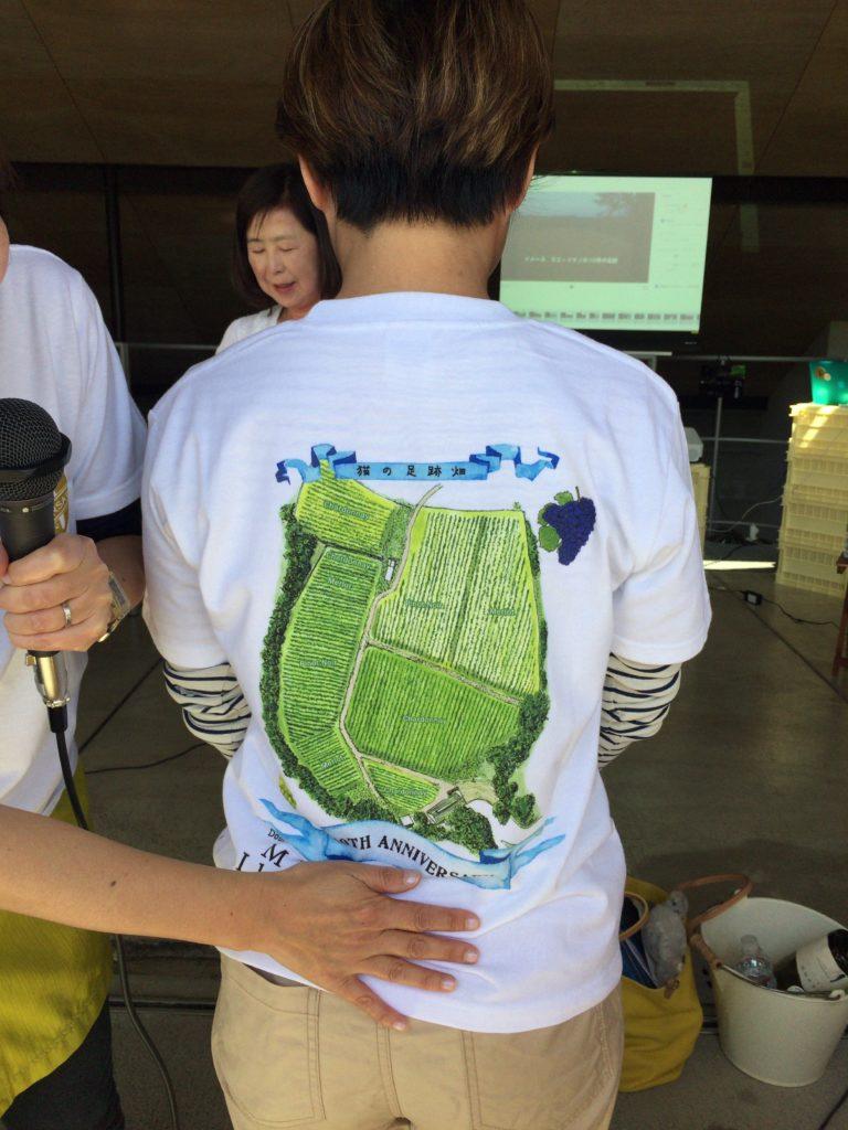 ドメーヌミエイケノ「猫の葡萄会スペシャル」で発売されたTシャツ