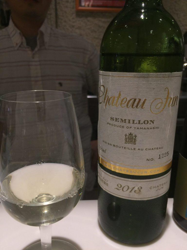 D&DEPARTMENT山梨店で開かれた立ち飲みワイン会にでたシャトージュンのセミヨン2013