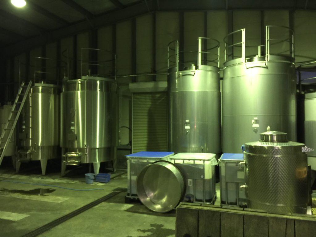 ナイトワインツーリズム ルミエールのタンク