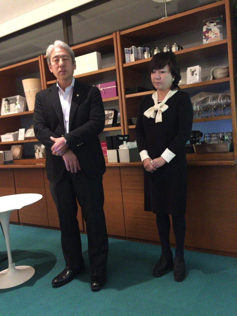 レコール・デュ・ヴァンの講師畑 久美子氏とルミエール社長