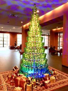 リゾナーレ八ヶ岳フロント前のクリスマスツリー2017