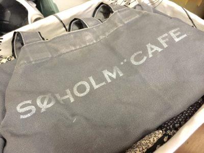 スーホルムカフェの布カバン
