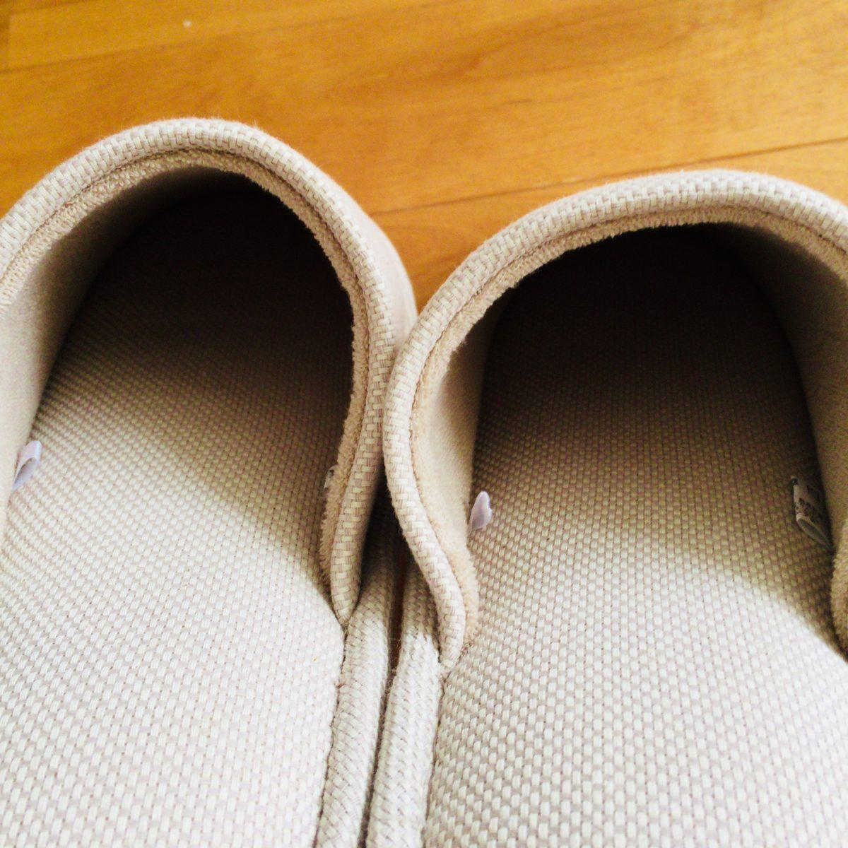 綿バスケット織足底EVA左右のないスリッパの足の甲部分