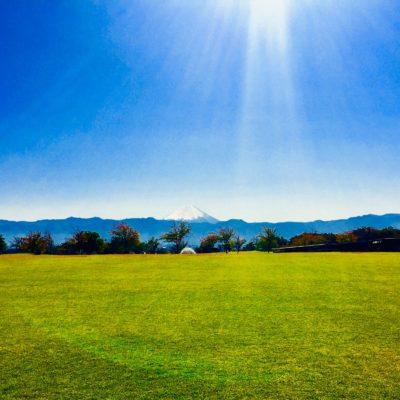 赤坂台公園(ドラゴンパーク)から望む富士山