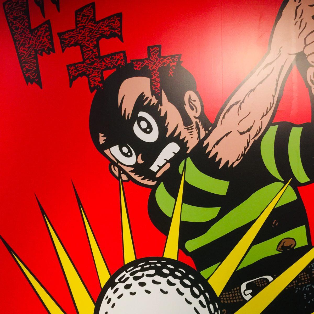 「藤子不二雄Ⓐ展」でのプロゴルファー猿のパネル