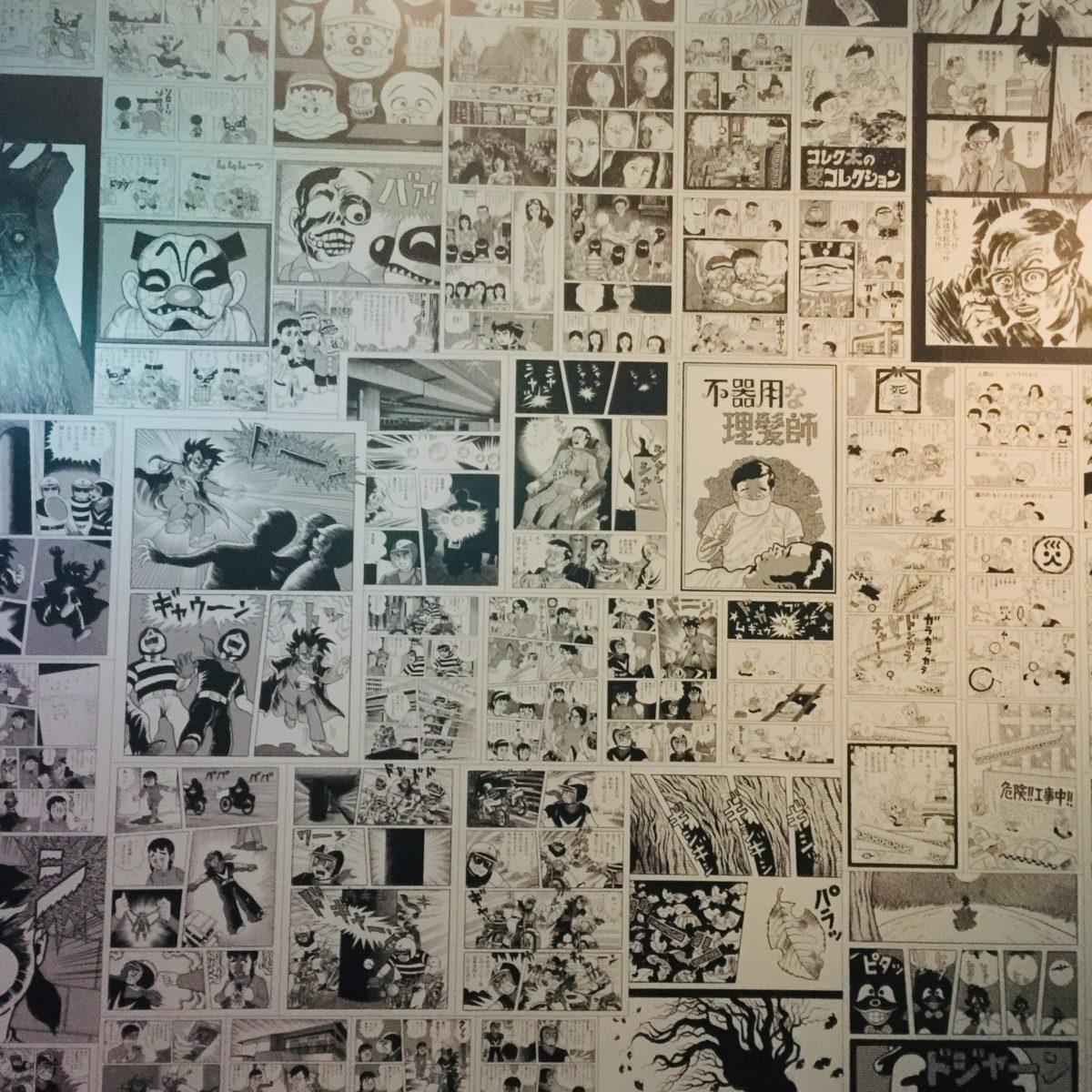 「藤子不二雄Ⓐ展」での短編集のパネル展示