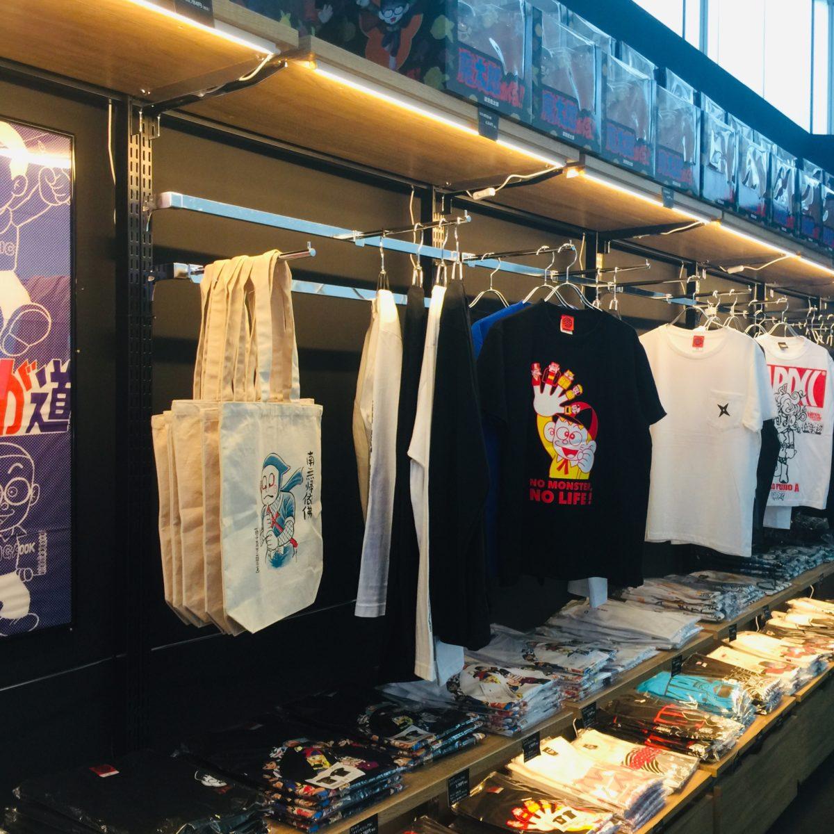 「藤子不二雄Ⓐ展」でのおみやげ屋「怪奇や」でのTシャツ販売