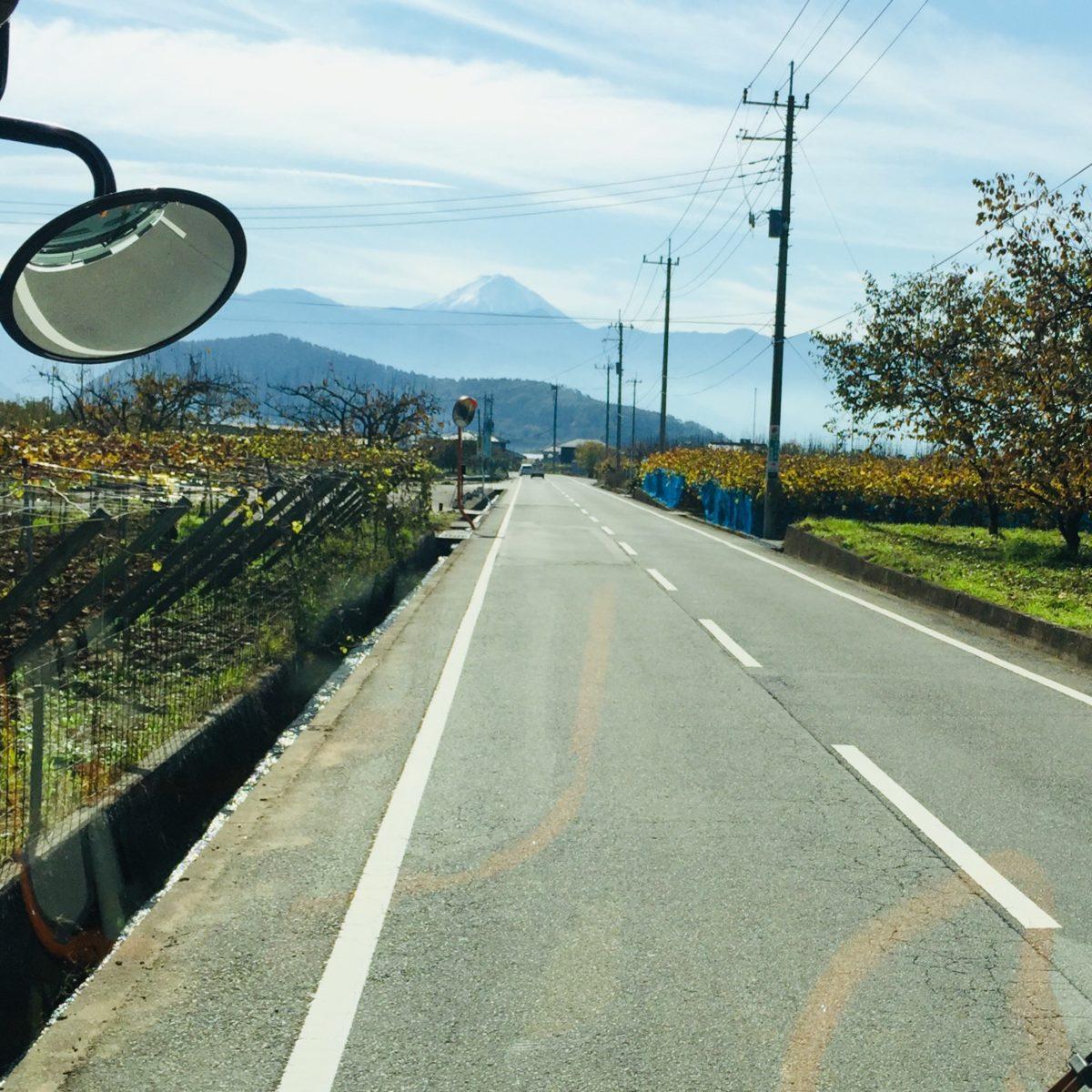 遠山付近から見える富士山