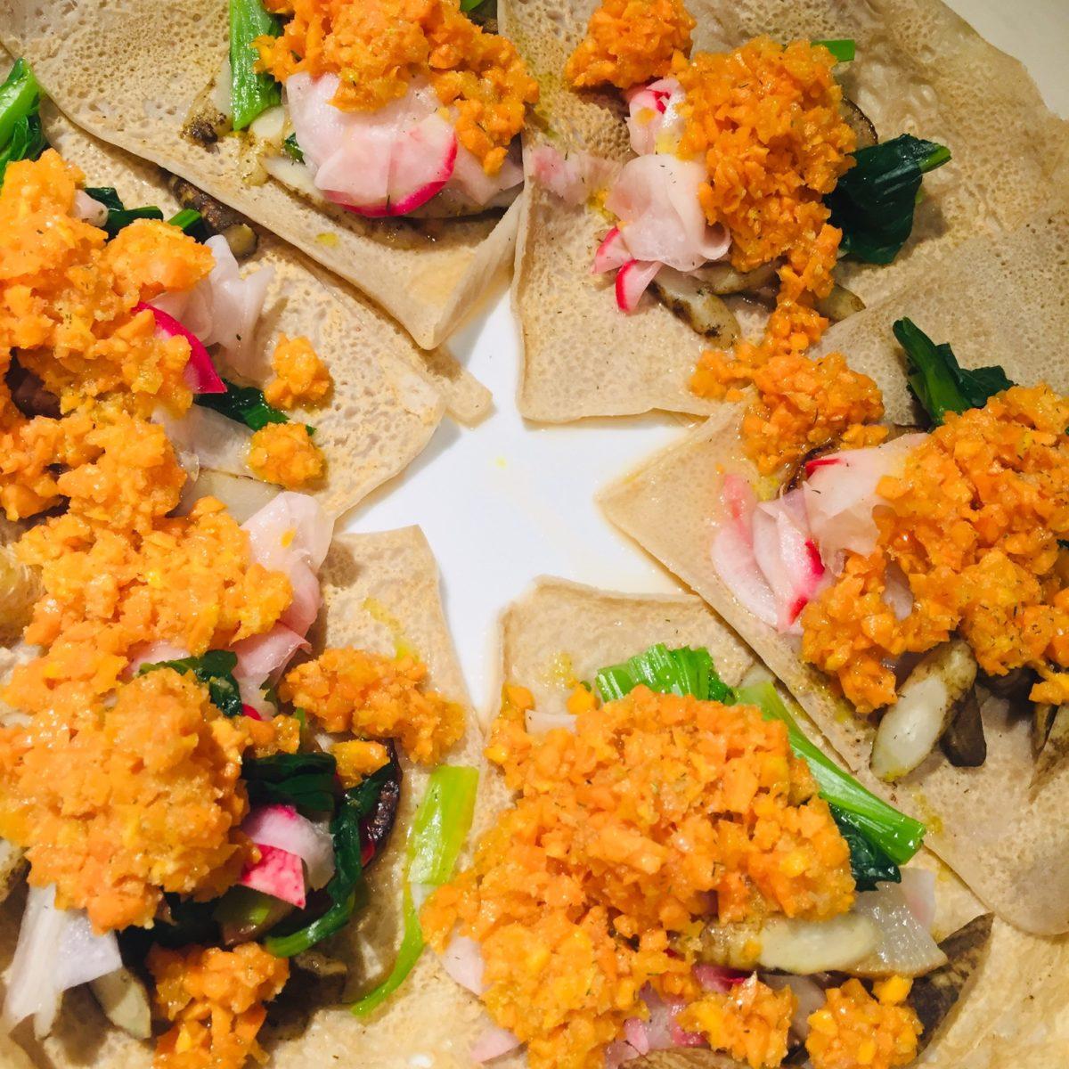 D&DEPARTMENT YAMANASHI FOUR HEATS CAFEで食べたガレットサラダ