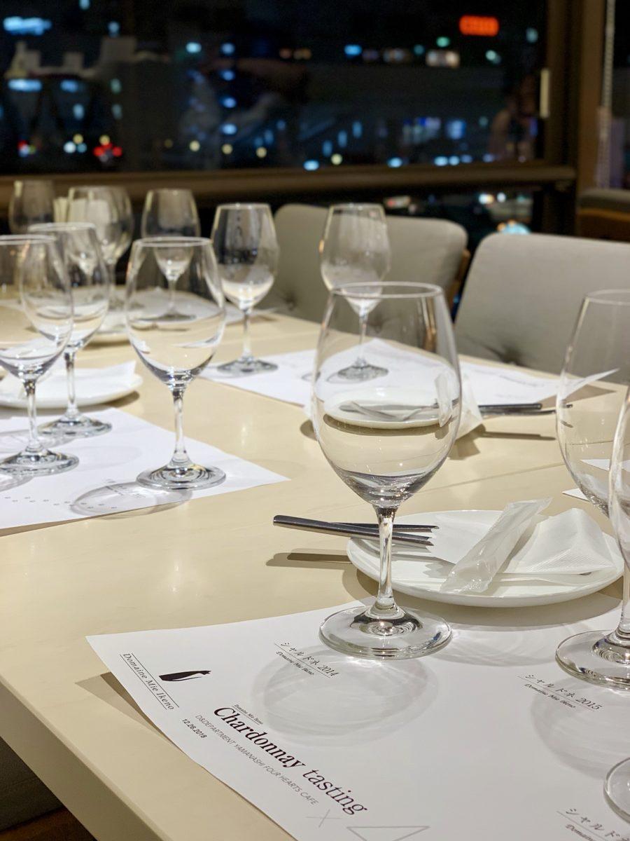 ワイン会でのリーデルグラス