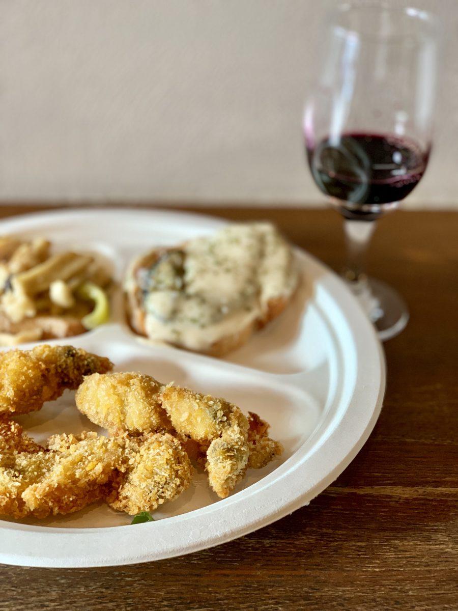 フォーハーツカフェでの「ワインフェス2019 ~宮城県石巻の牡蠣と山梨のワイン~」ワインと牡蠣メニュー