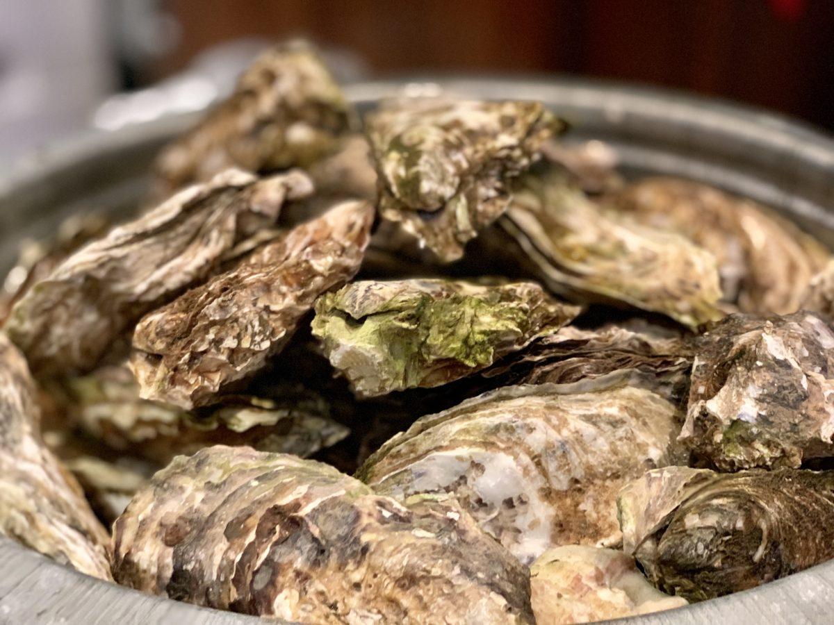 フォーハーツカフェでの「ワインフェス2019 ~宮城県石巻の牡蠣と山梨のワイン~」の蒸し牡蠣