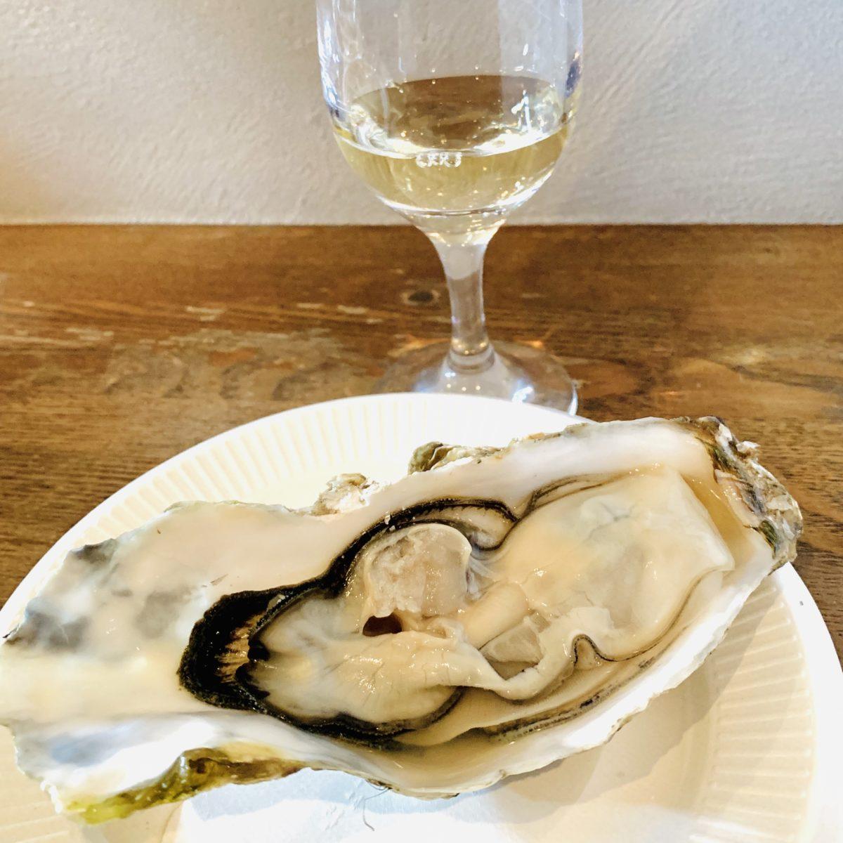 牡蠣と甲州ワイン