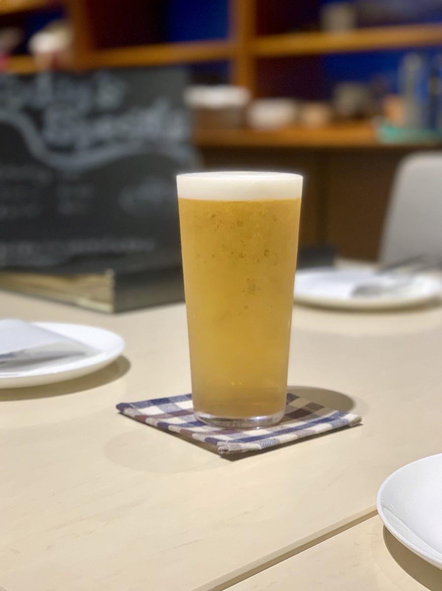 タッチダウンビールのピルスナー