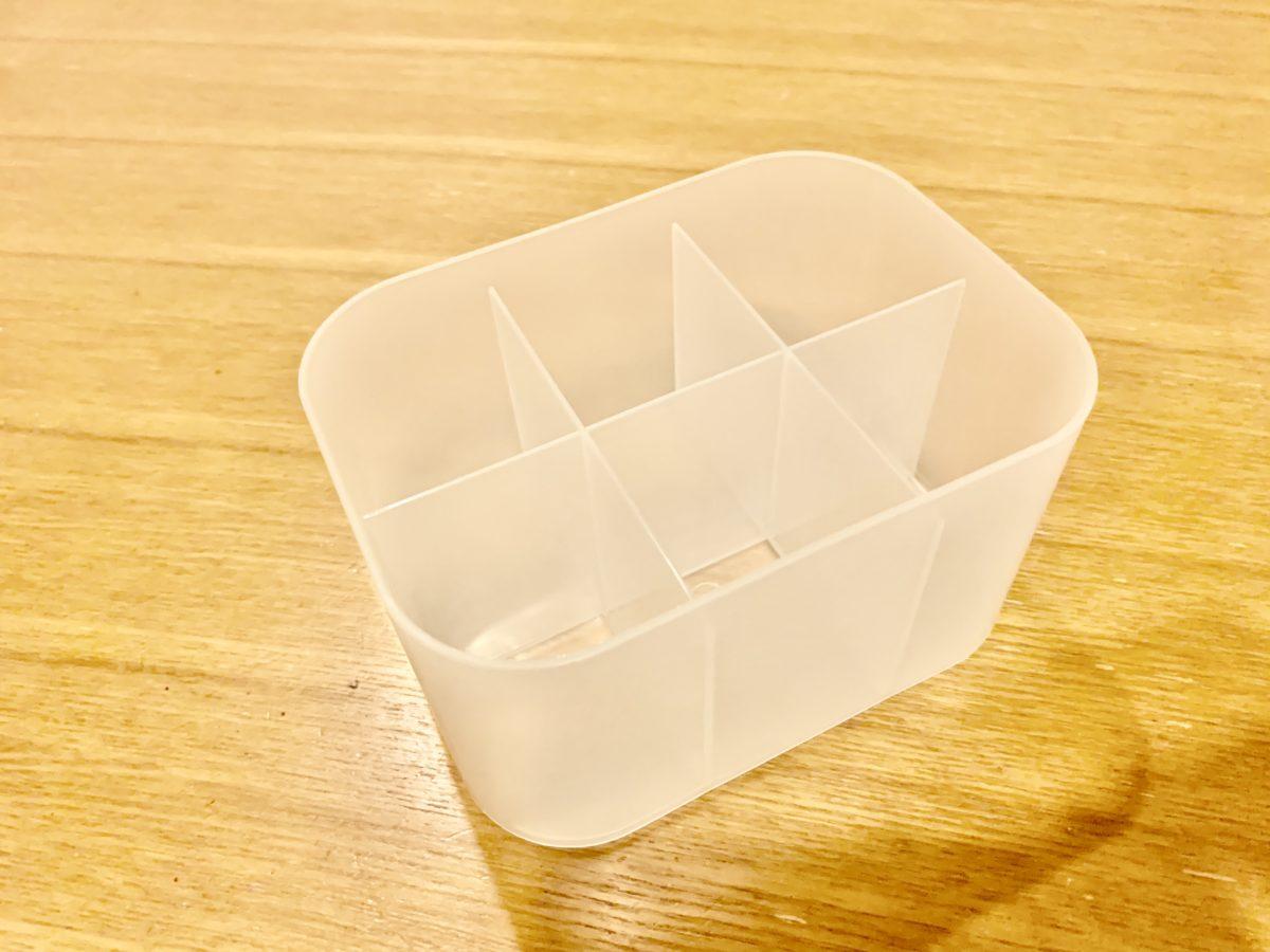 ポリプロピレンメイクボックス 1/2横・仕切りタイプ