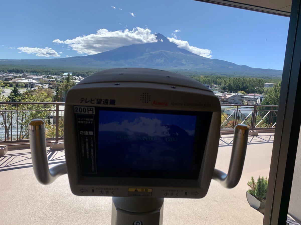 ふじさんデッキ内にあるデジタル望遠鏡