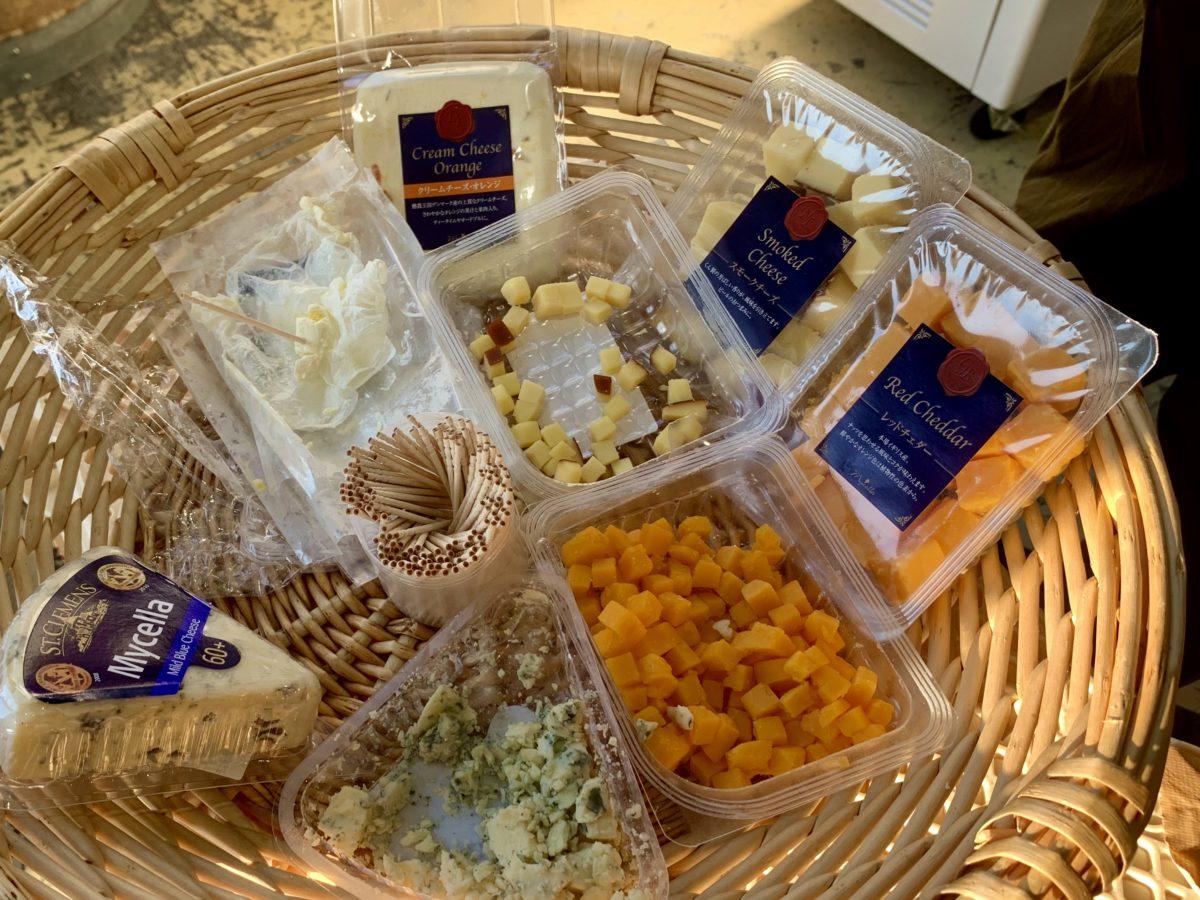 ワインツーリズムやまなし2019・秋「シャトー酒折ワイナリー」でだされたおつまみの世界のチーズ