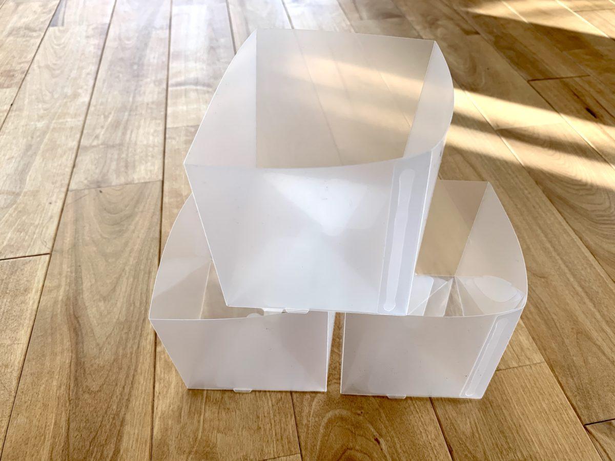 ポリプロピレンシート仕切りボックス・3枚組