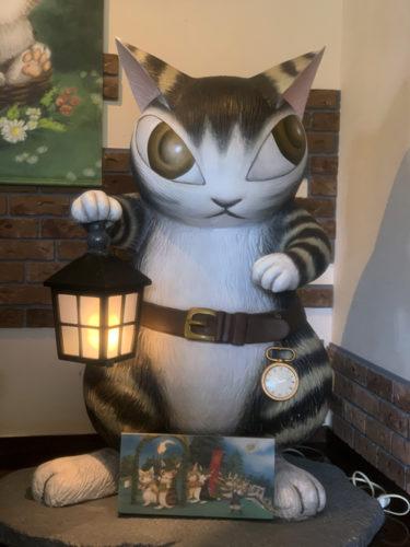 木ノ花美術館にいる猫のダヤン