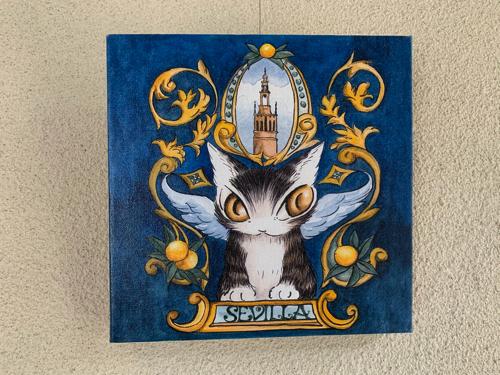 木ノ花美術館直営レストラン「オルソンさんのいちご」にある猫のダヤンの作品