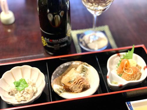 北杜市・長坂にある和食処「ひな菊」のランチメニューの三種盛り