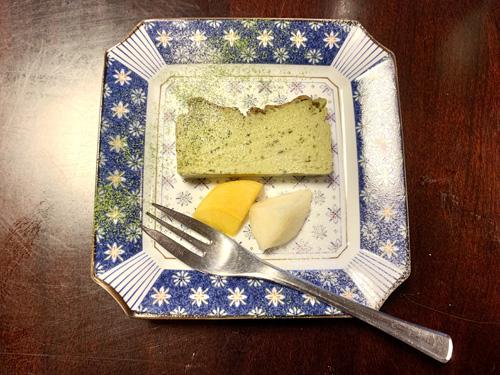 北杜市・長坂にある和食処「ひな菊」のランチメニューの濃厚抹茶チーズテリーヌ