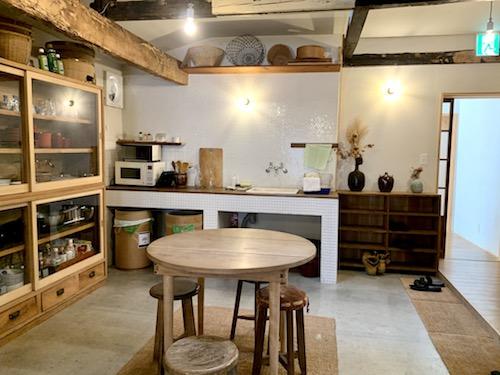 ホステル「SARUYA」の宿泊専用のキッチン