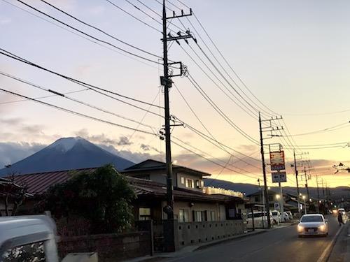富士吉田市からみる富士山