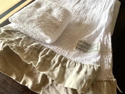 リネンメーカー「ALDIN」のハンドタオルとバスタオルの2種類