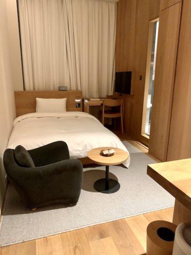 MUJI HOTEL GINZAのタイプAの全体図