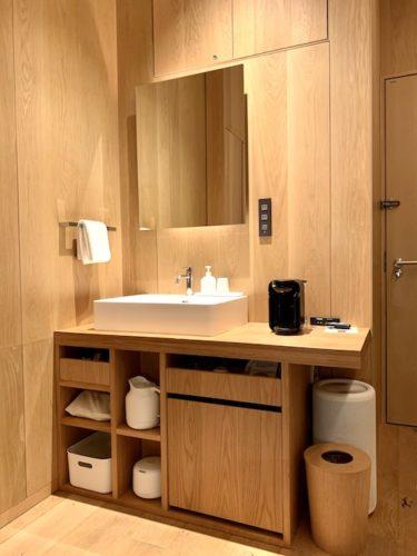 MUJI HOTEL GINZAのタイプAの洗面台