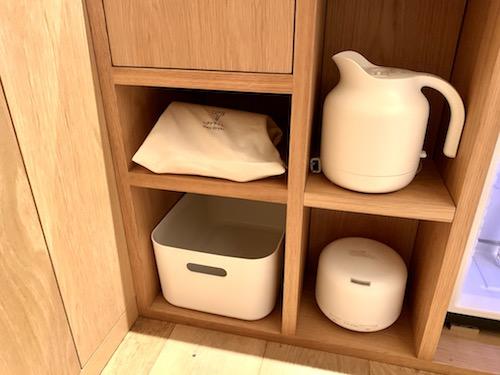 MUJI HOTEL GINZAのタイプAの洗面台の下部