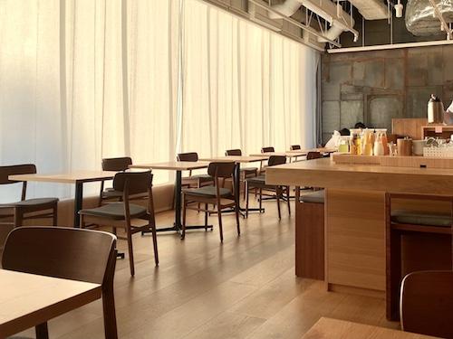 MUJI HOTEL GINZAの朝食会場「WA」