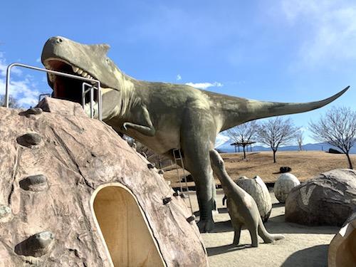 双葉水辺公園の恐竜遊具のちび恐竜