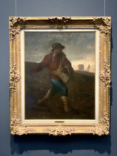 種を蒔く人 1850年頃 油彩