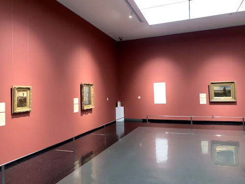 山梨県立美術館ミレー館の展示