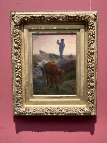角笛を吹く牛飼い 制作年不詳 油彩