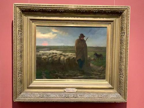 夕暮れに羊を連れ帰る羊飼い 1857 ー 60年 油彩