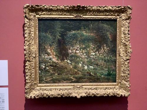 古い塀 1862年頃 油彩