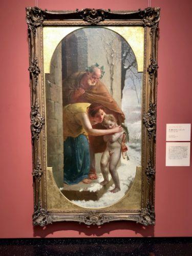 冬(凍えたキューピッド) 1864- 65年 油彩
