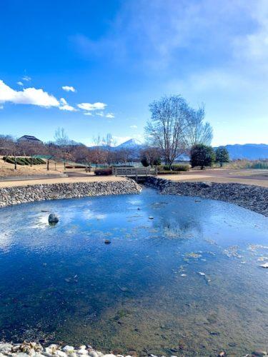 富士山を望める双葉水辺公園