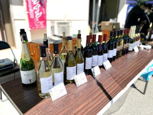 ニュー山梨ワイン醸造のラインナップ
