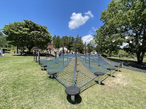 富士川クラフトパーク・砦遊具広場のネット遊具