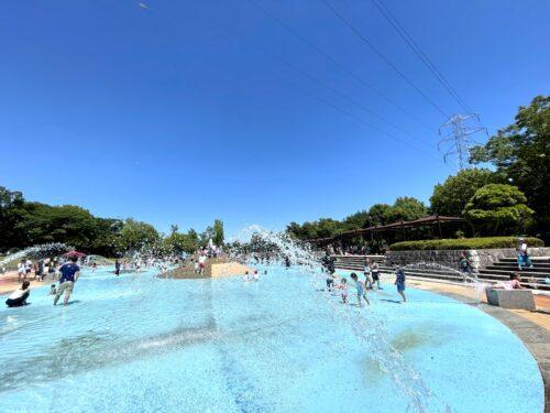 100人程度同時に楽しむことができる南アルプス市御勅使(みだい)公園の水場