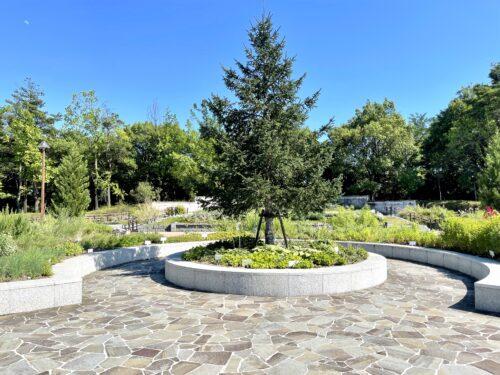 南アルプス市御勅使(みだい)公園のハーブ庭園