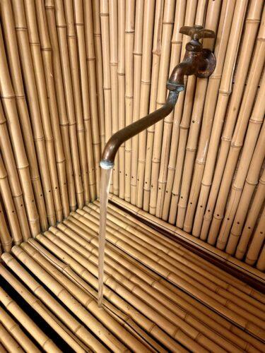 西山温泉・慶雲館の客室に備え付けられている温泉蛇口