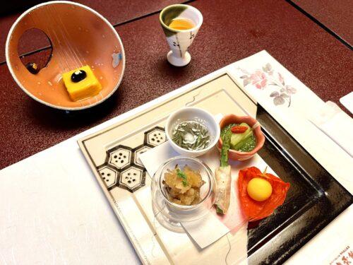 山梨・西山温泉「慶雲館」の食事 葉月の宴 <夕食>