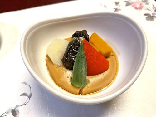 山梨・西山温泉「慶雲館」の食事 葉月の宴 <夕食> 温物